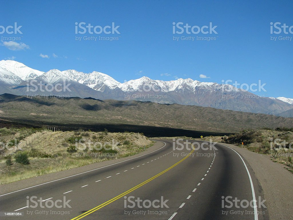 South America road stock photo