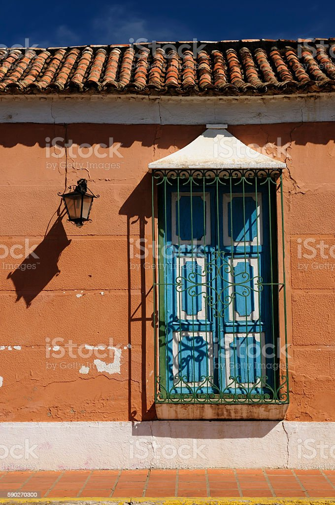 South America, Venezuela, View on the colonial Coro city stock photo