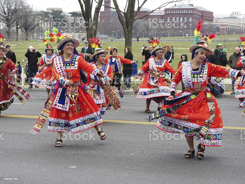 South American Dancers royalty-free stock photo