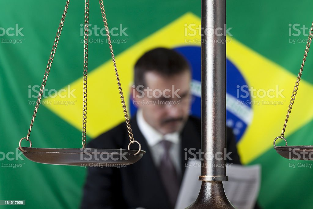 South American lawyer royalty-free stock photo