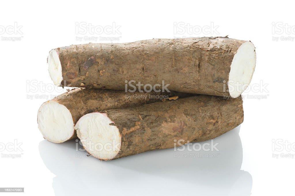 South American sweet Cassava root stock photo