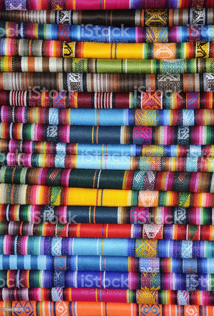 South American Textile royalty-free stock photo