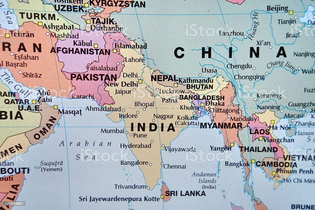 South Asia Map stock photo 526840682 – South Asia Map
