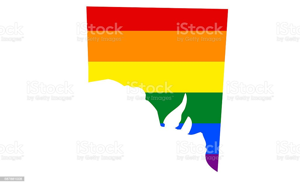 South Australia Gay Pride State stock photo