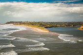 South Australia Port Noarlunga coastline cliffs at the beach wit