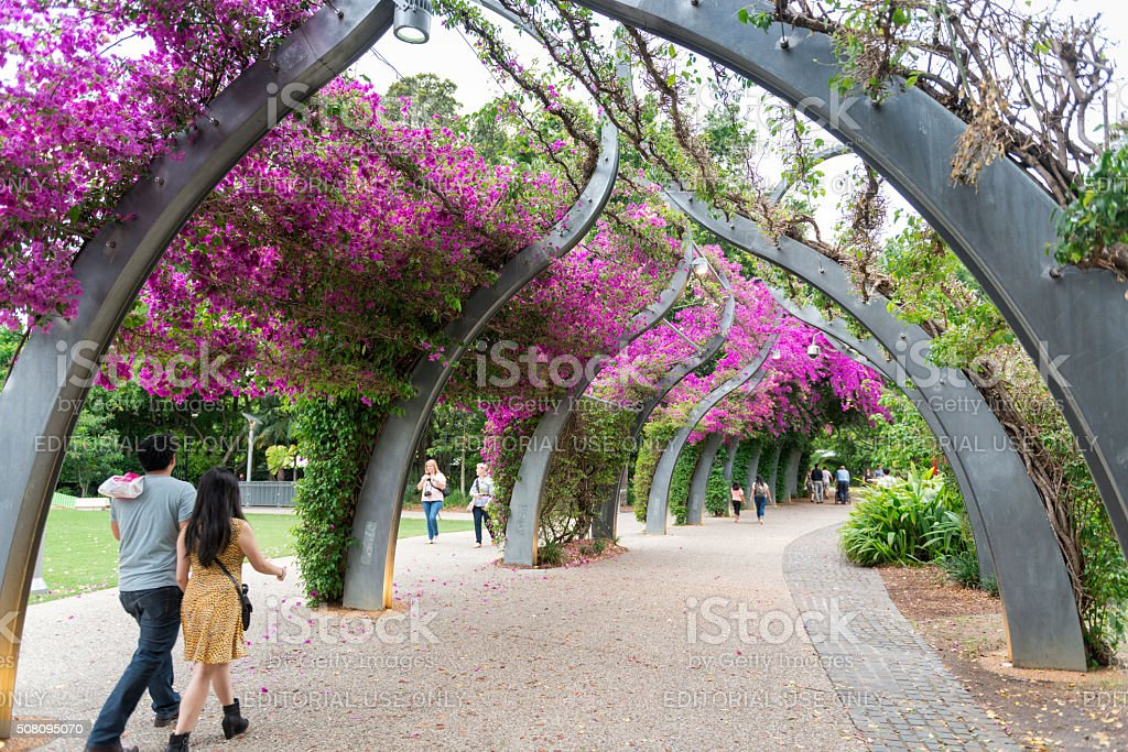 South Bank Arbour Brisbane stock photo