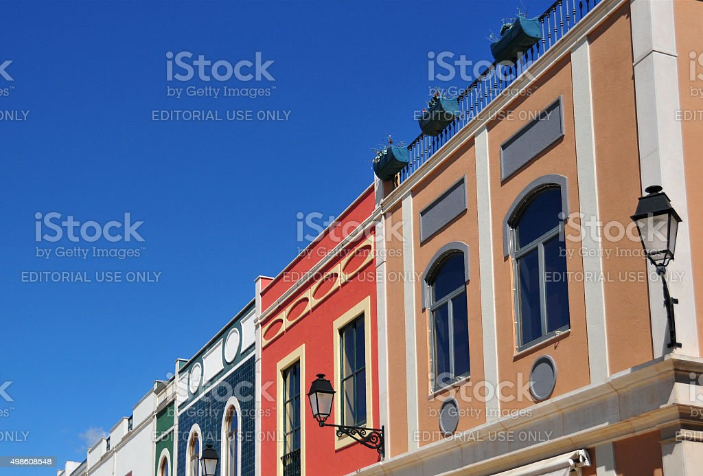 Margem Sul façades, Freeport Alcochete, Portugal stock photo