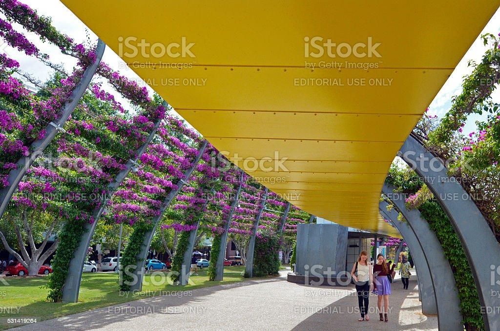 South Bank Parklands - Brisbane Australia stock photo