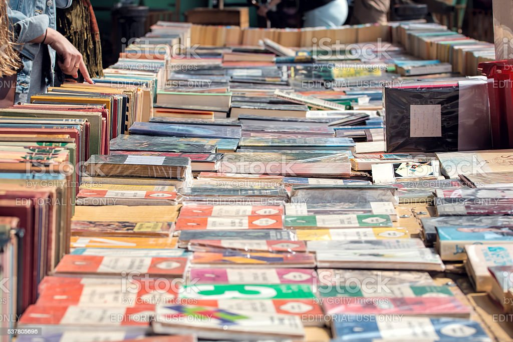 South Bank Second Hand Book Market. stock photo
