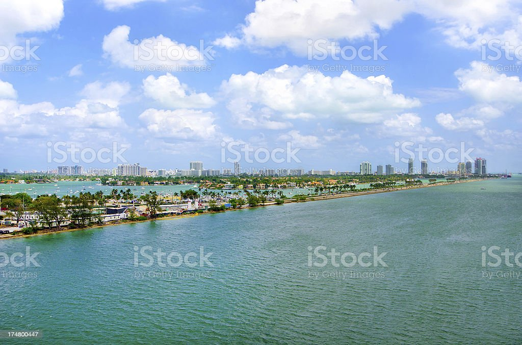 South Beach aerial view royalty-free stock photo