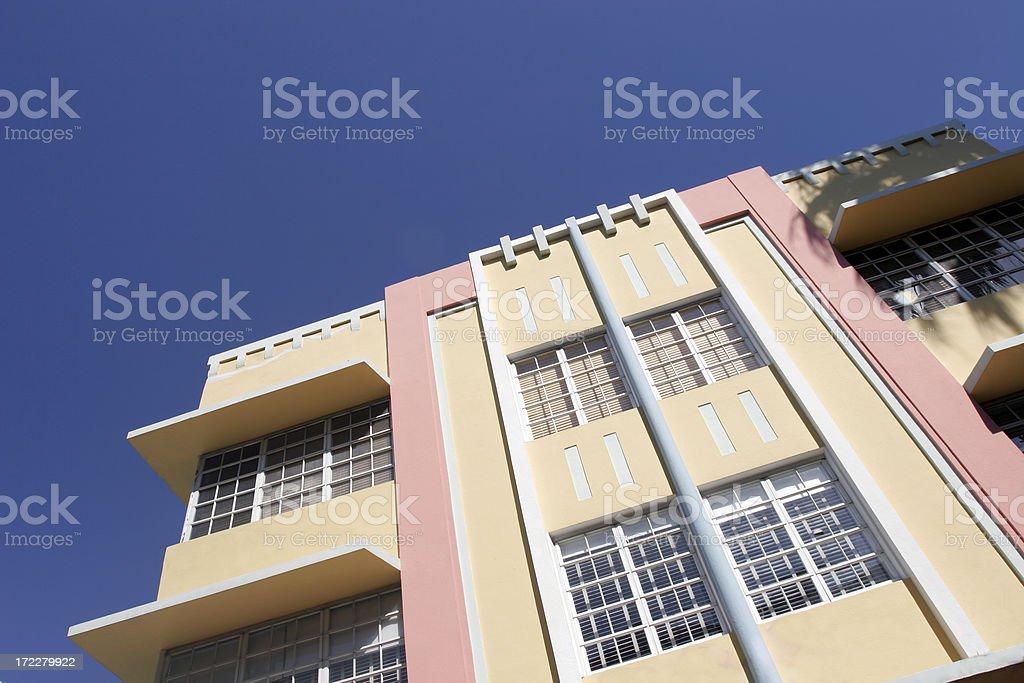 South Beach Art Deco royalty-free stock photo