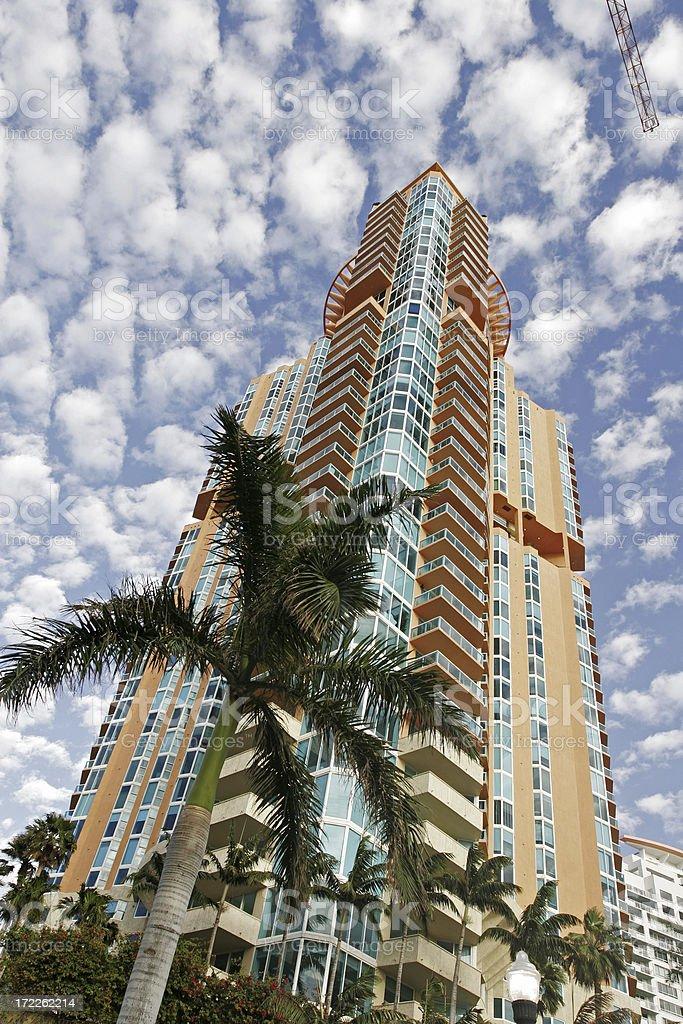 South Beach Condo royalty-free stock photo