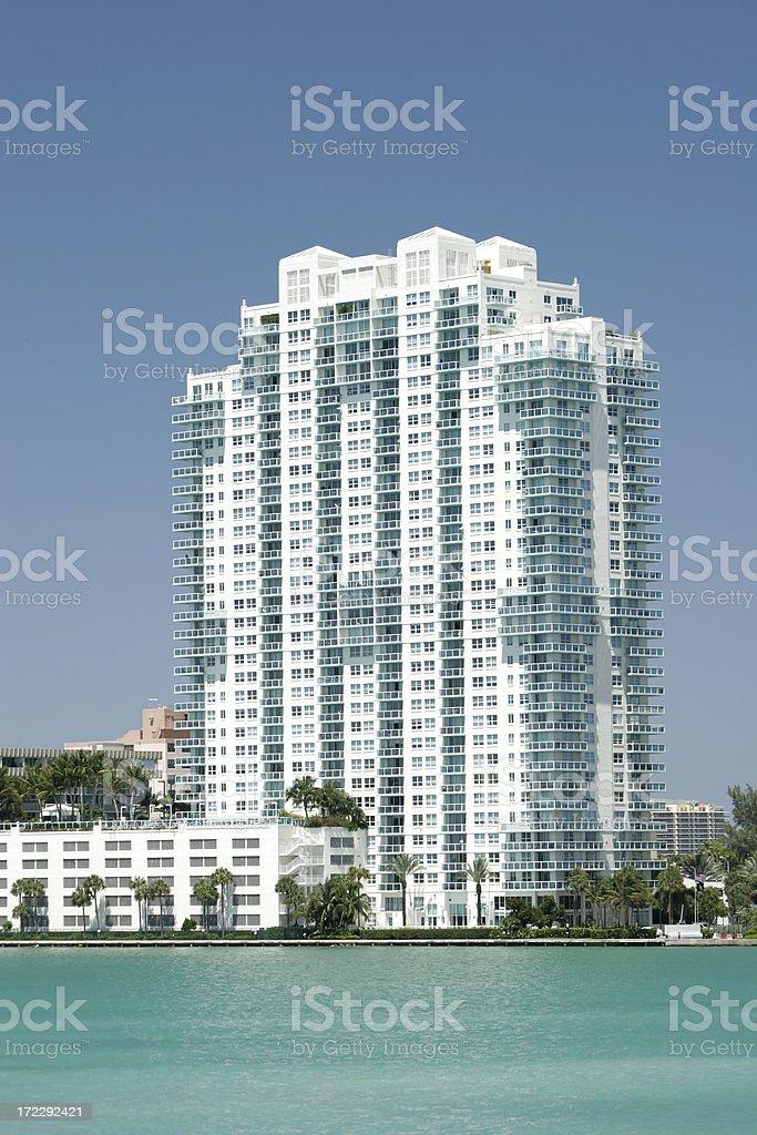 South Beach Condo stock photo