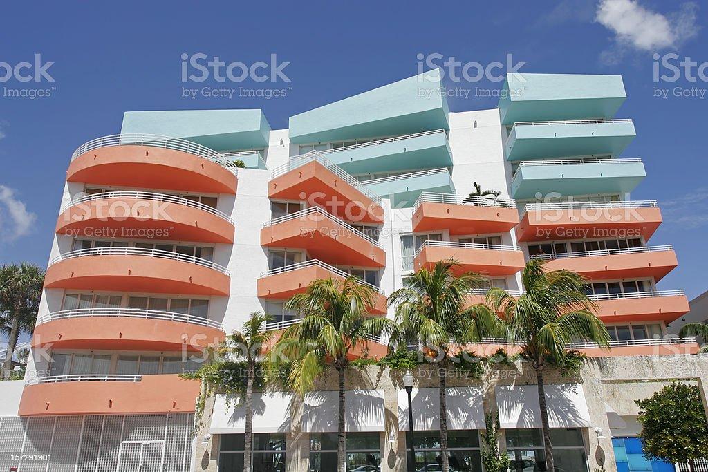 South Beach Condominium royalty-free stock photo