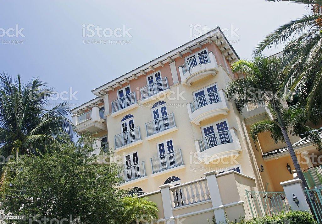 South Beach Condominium stock photo