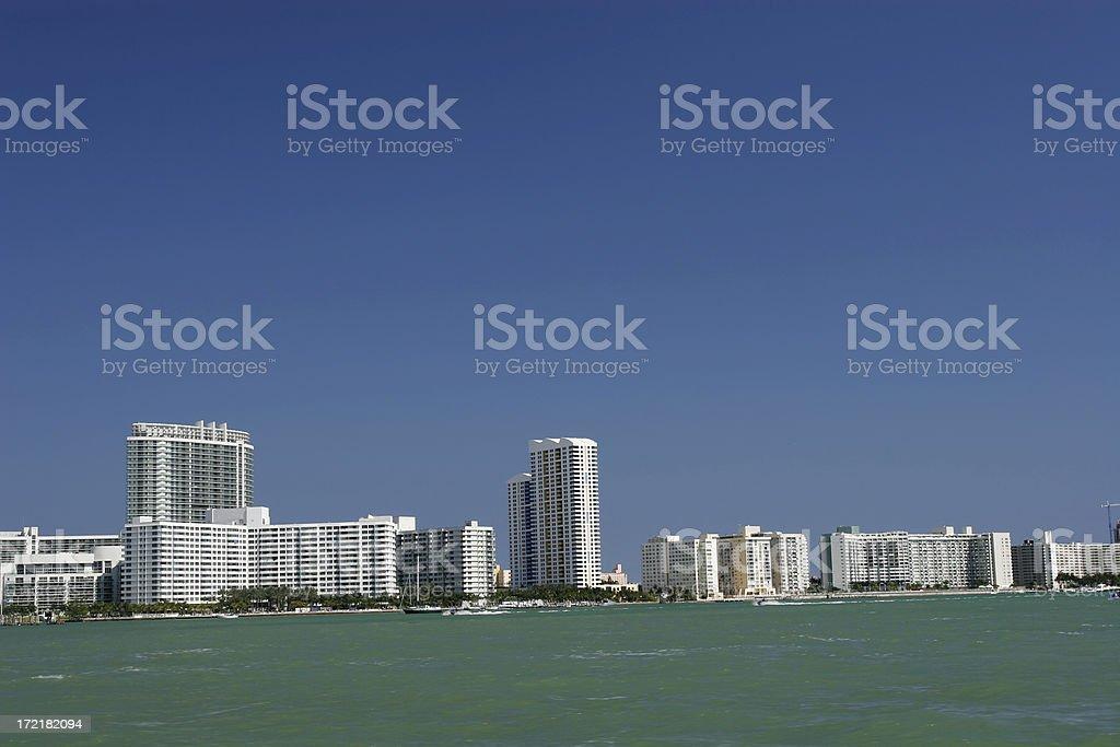 South Beach Condos royalty-free stock photo