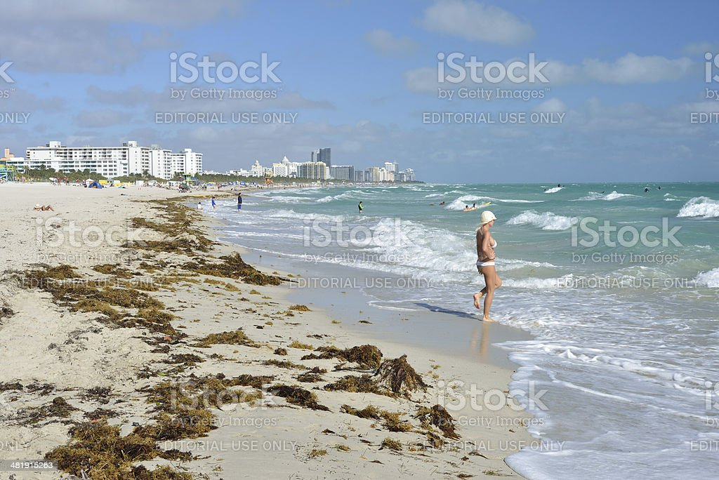 South Beach in Florida royalty-free stock photo