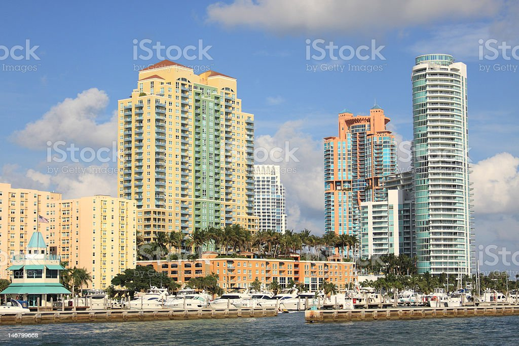 South Beach in Miami royalty-free stock photo