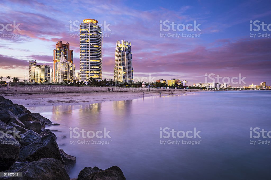 South Beach, Miami, Florida stock photo