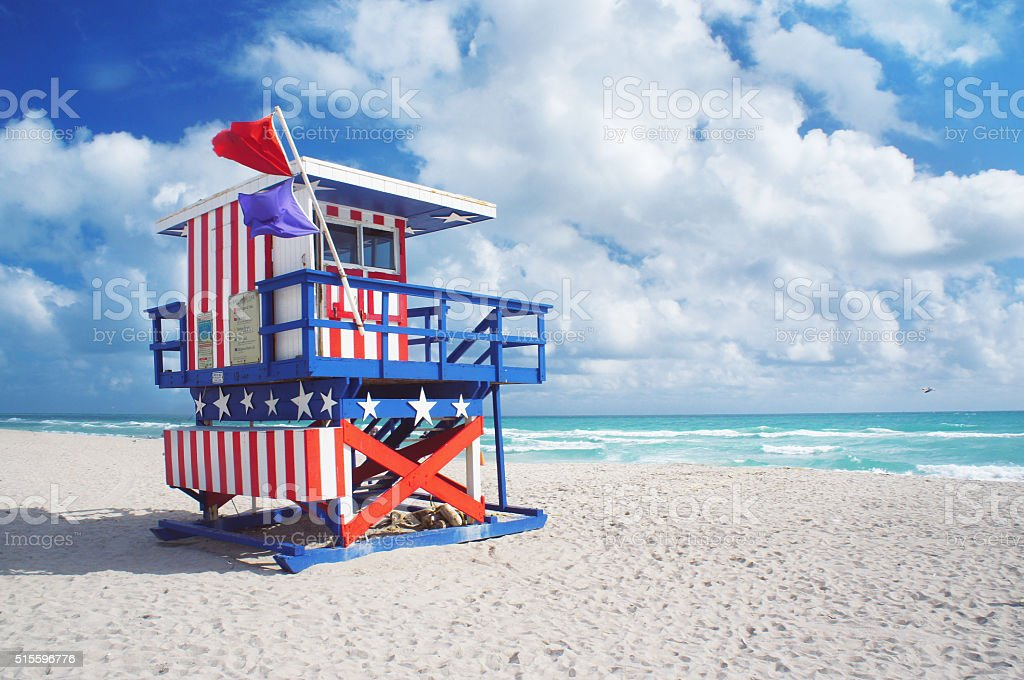 South Beach of Miami stock photo