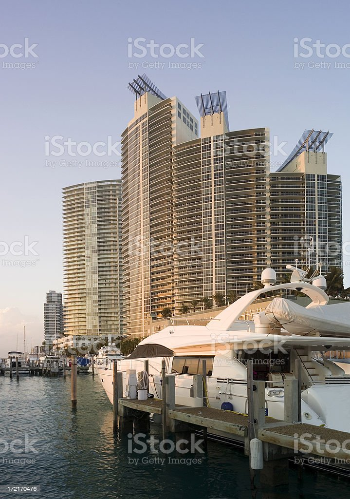 South Beach postcard royalty-free stock photo