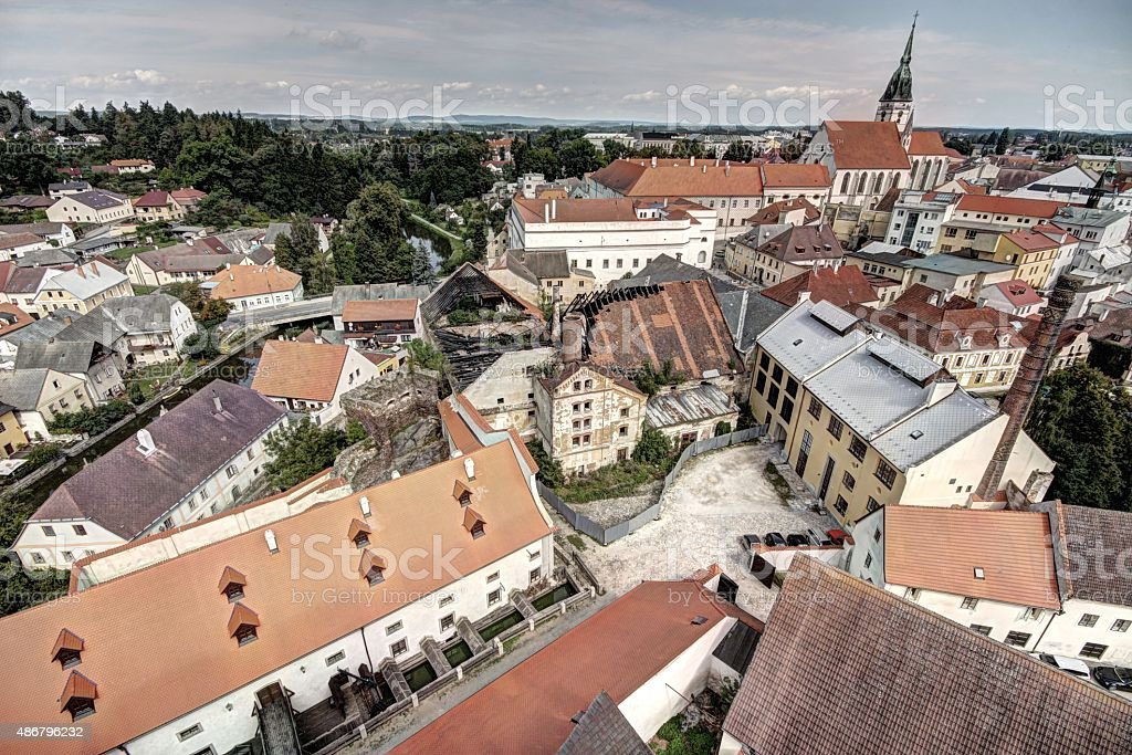 South Bohemia historical city centre stock photo