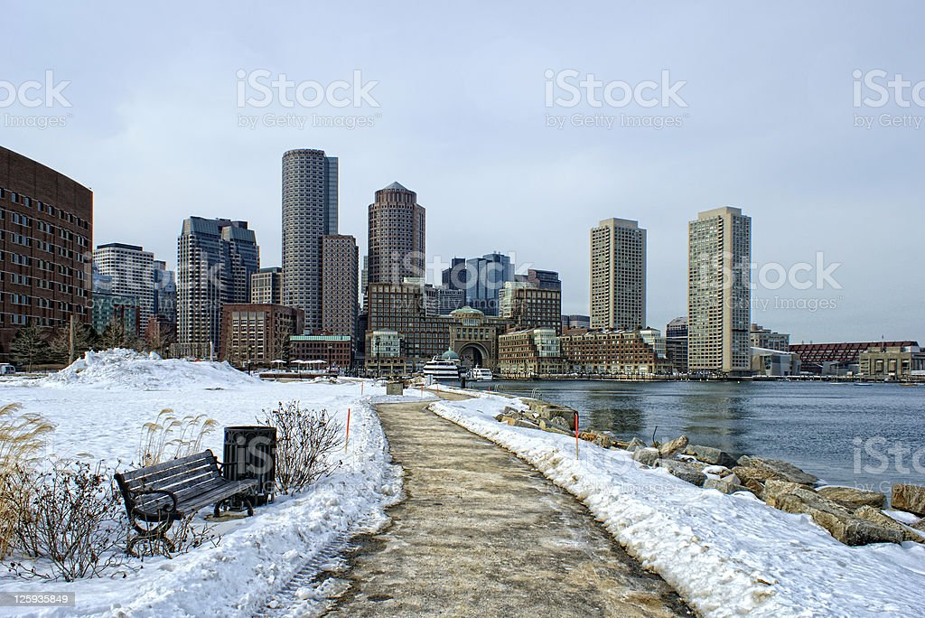 south boston in winter royalty-free stock photo