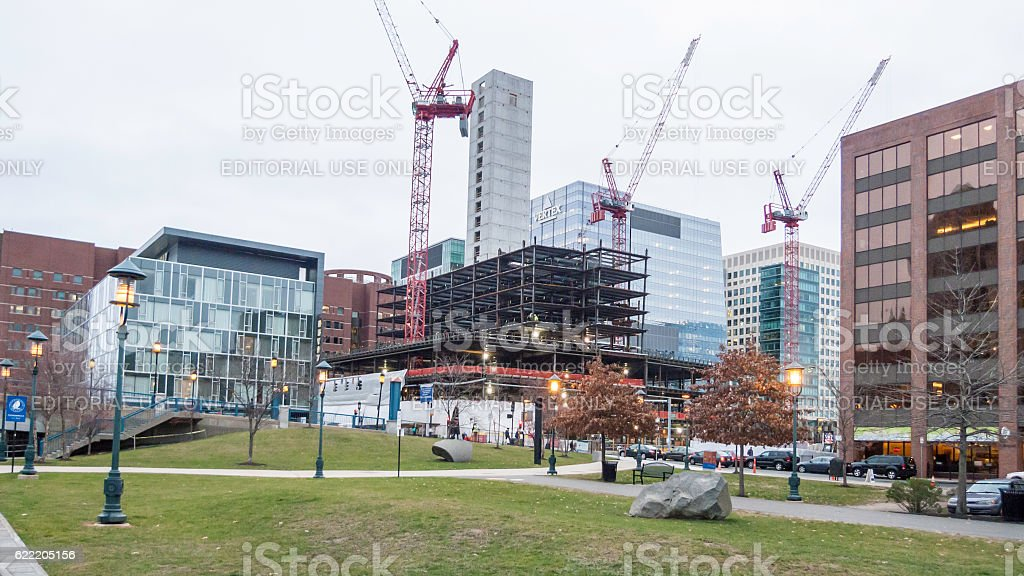 South Boston redevelopment seen from Children's Wharf stock photo