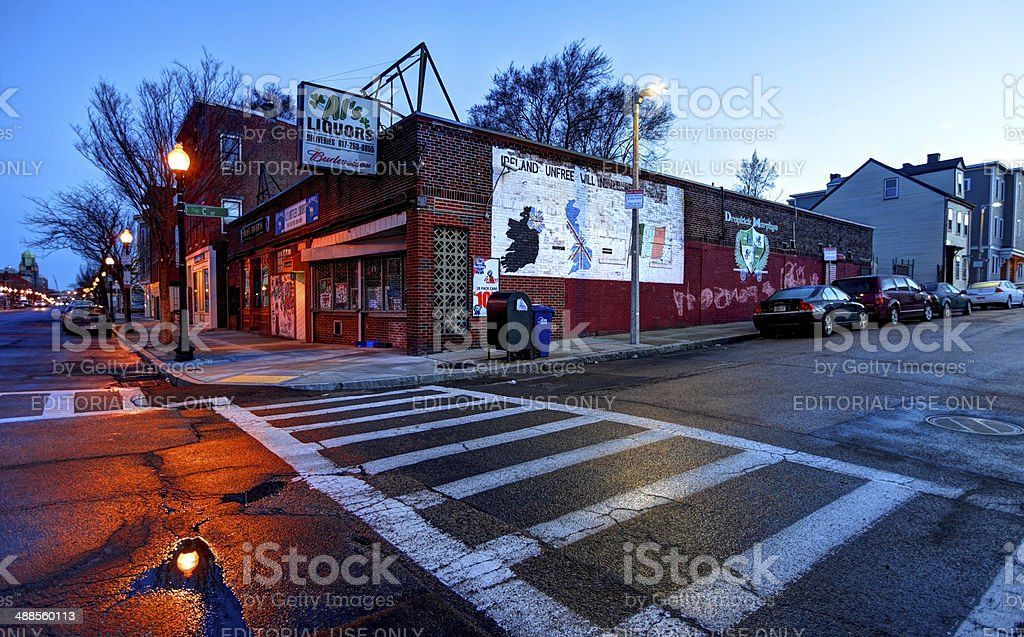 South Boston, Southie neighborhood royalty-free stock photo