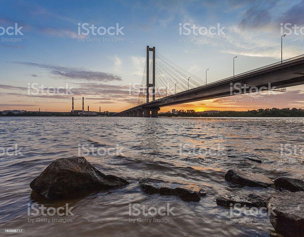 South bridge. Ukraine. Kiev. royalty-free stock photo