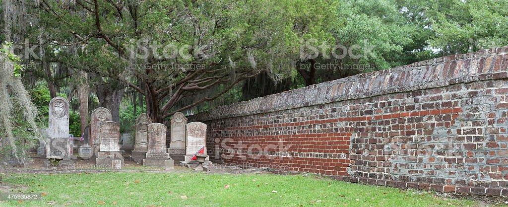 South Carolina Cemetery stock photo