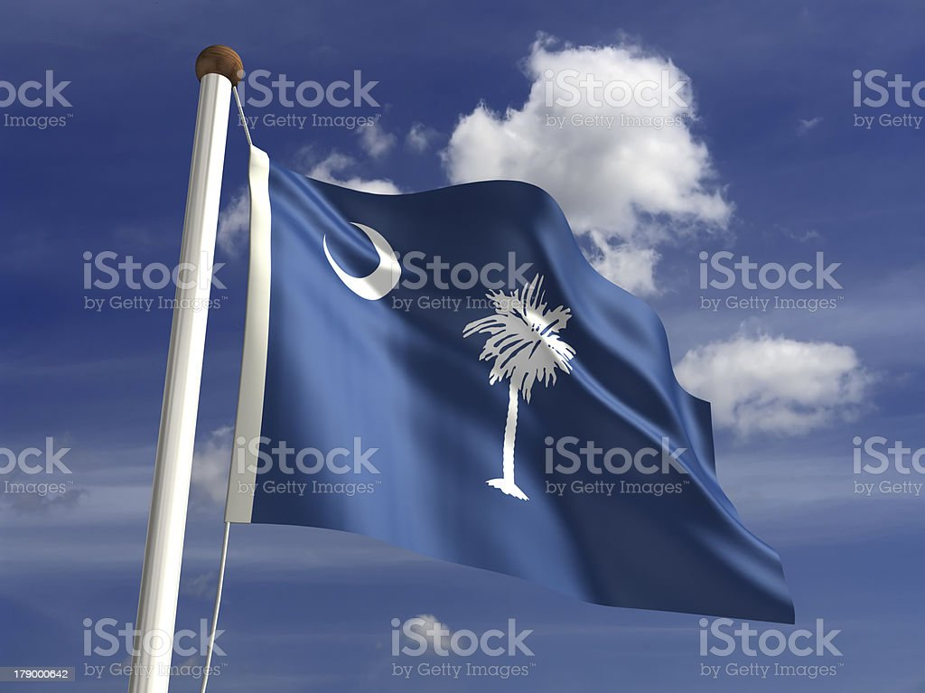 South Carolina flag (with clipping path) royalty-free stock photo