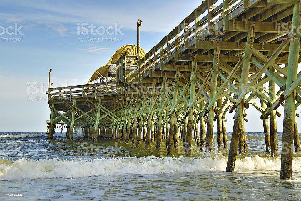 South Carolina Myrtle Beach Pier stock photo
