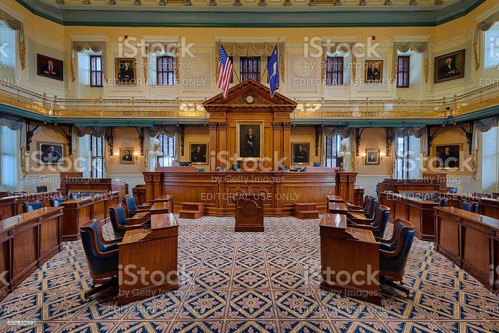 South Carolina Senate chamber stock photo