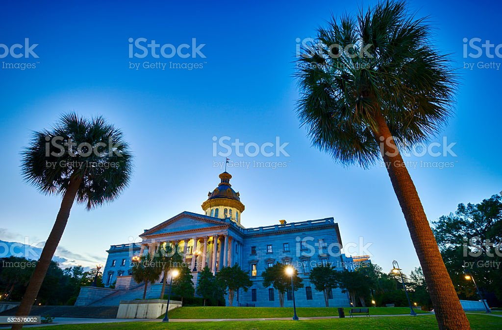 South Carolina State Capitol In Columbia stock photo