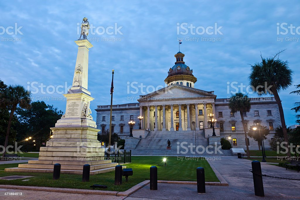 South Carolina State House In Columbia stock photo