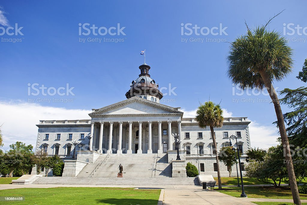 South Carolina State House In Columbia, SC stock photo