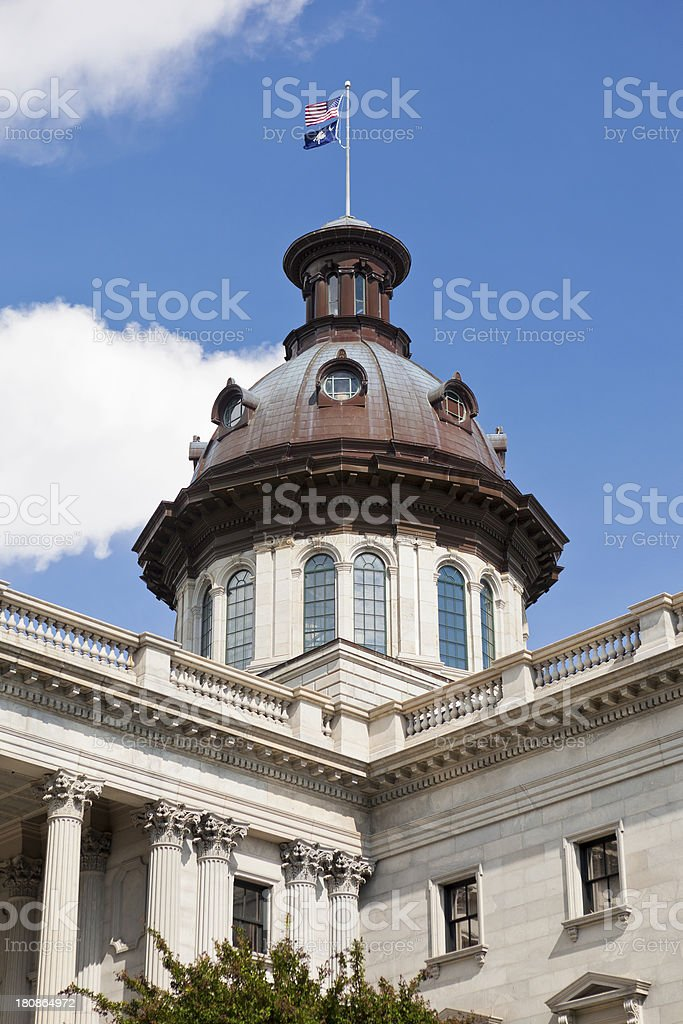 South Carolina State House In Columbia, SC royalty-free stock photo