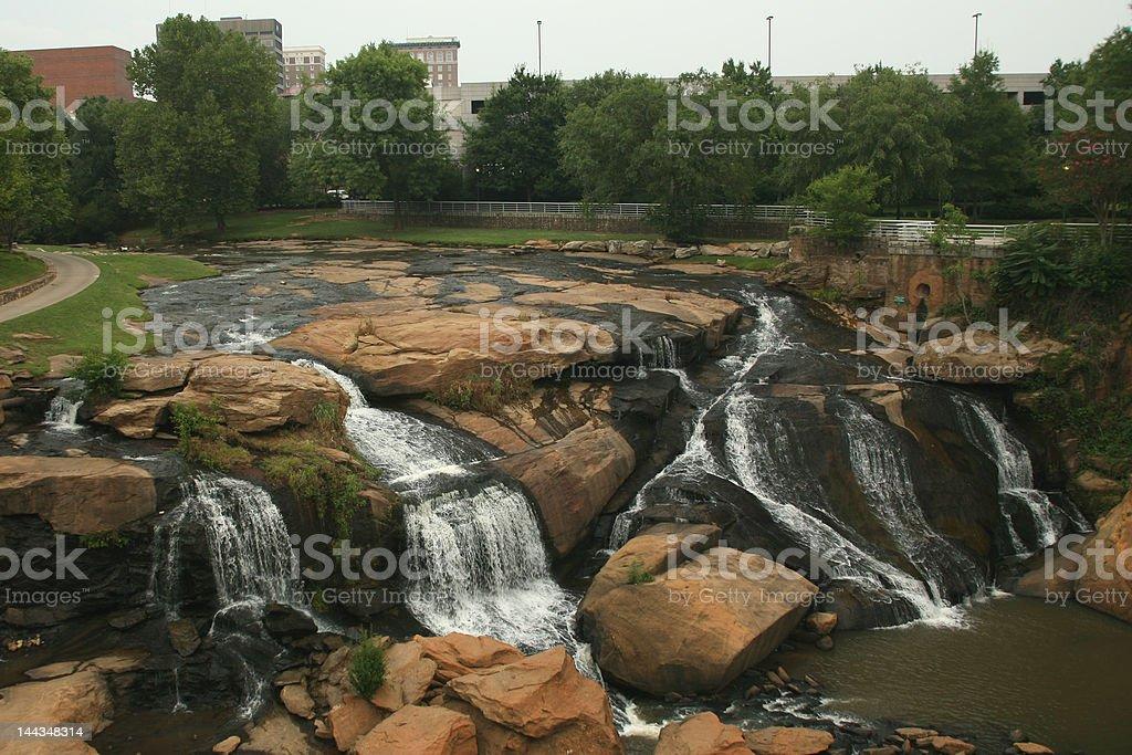 South Carolina Waterfall royalty-free stock photo