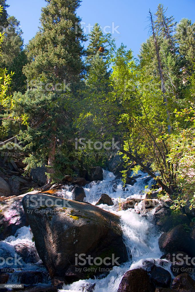 South Catamount Falls on North Pikes Peak stock photo