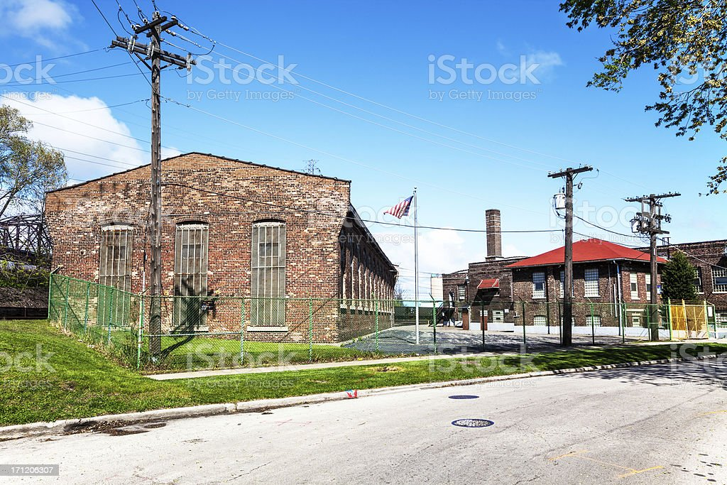 South Chicago and Indiana Harbor Belt Railway Company Building stock photo