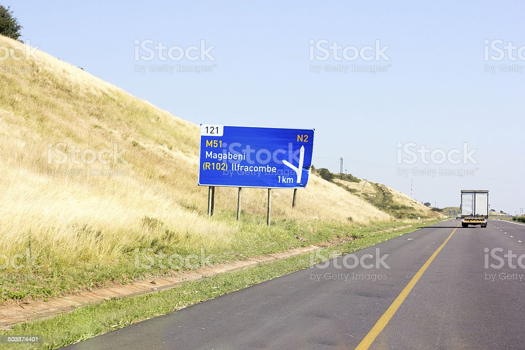 N2 South Coast in KwaZulu-Natal, South Africa stock photo