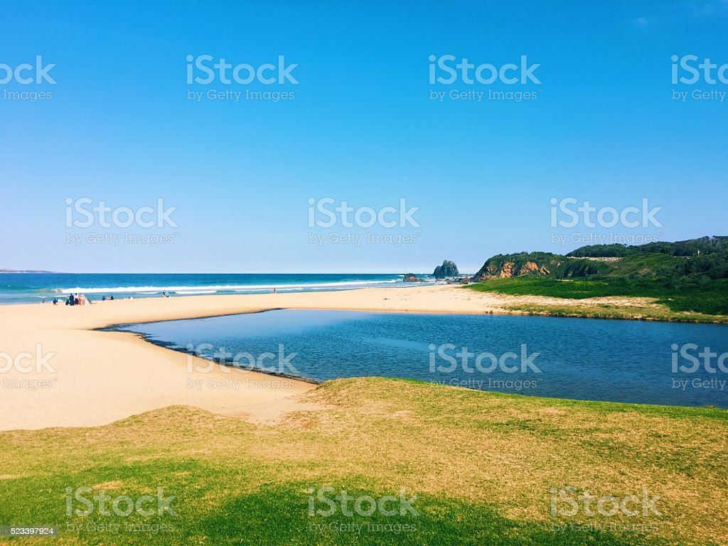 South Coast of Australia. stock photo