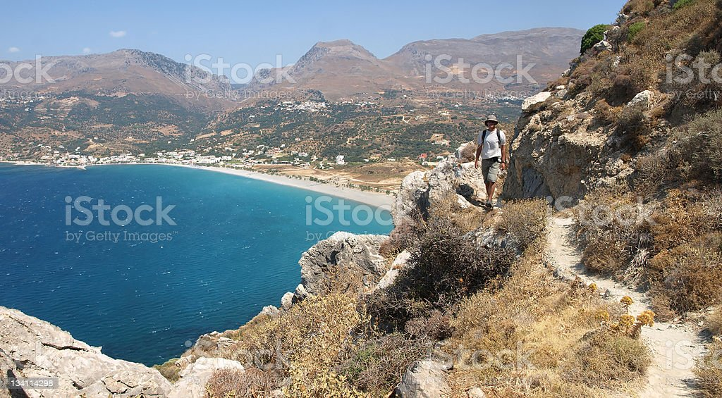 South coast of Crete, Greece stock photo