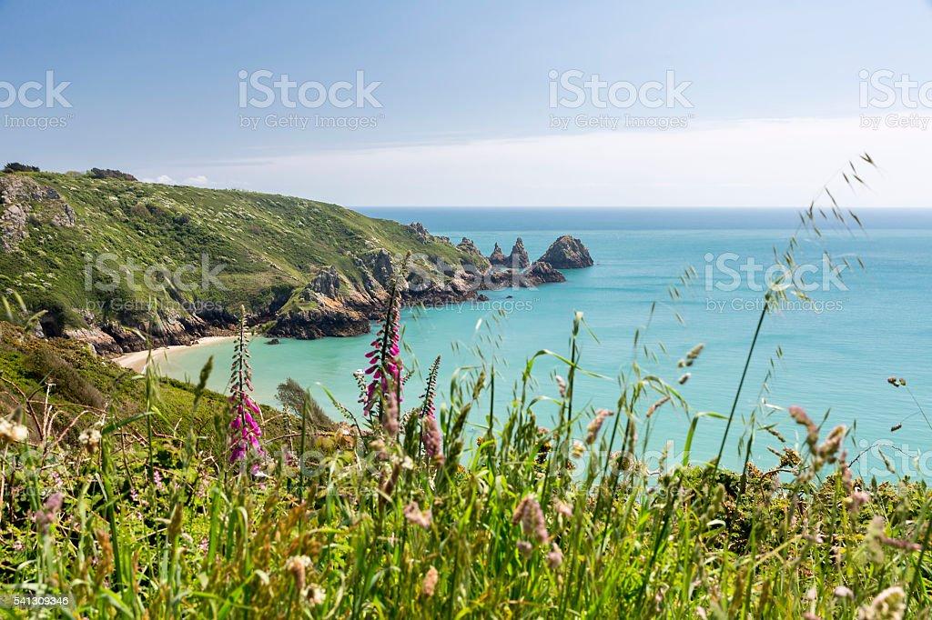 South coast of Guernsey island, UK, Europe stock photo