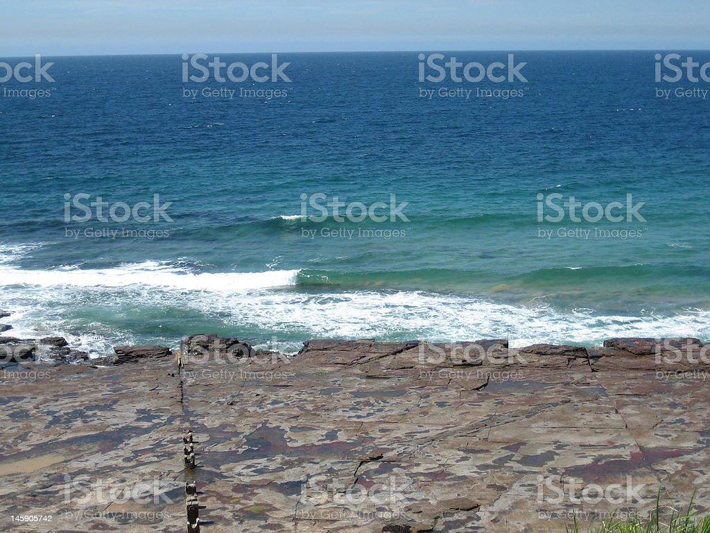 NSW South Coast, rocky coastline royalty-free stock photo