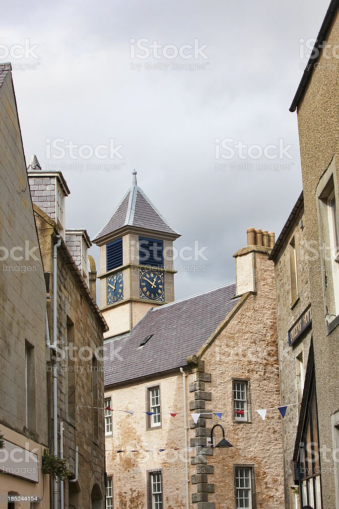 South Commercial Street in Lerwick Shetland Islands royalty-free stock photo