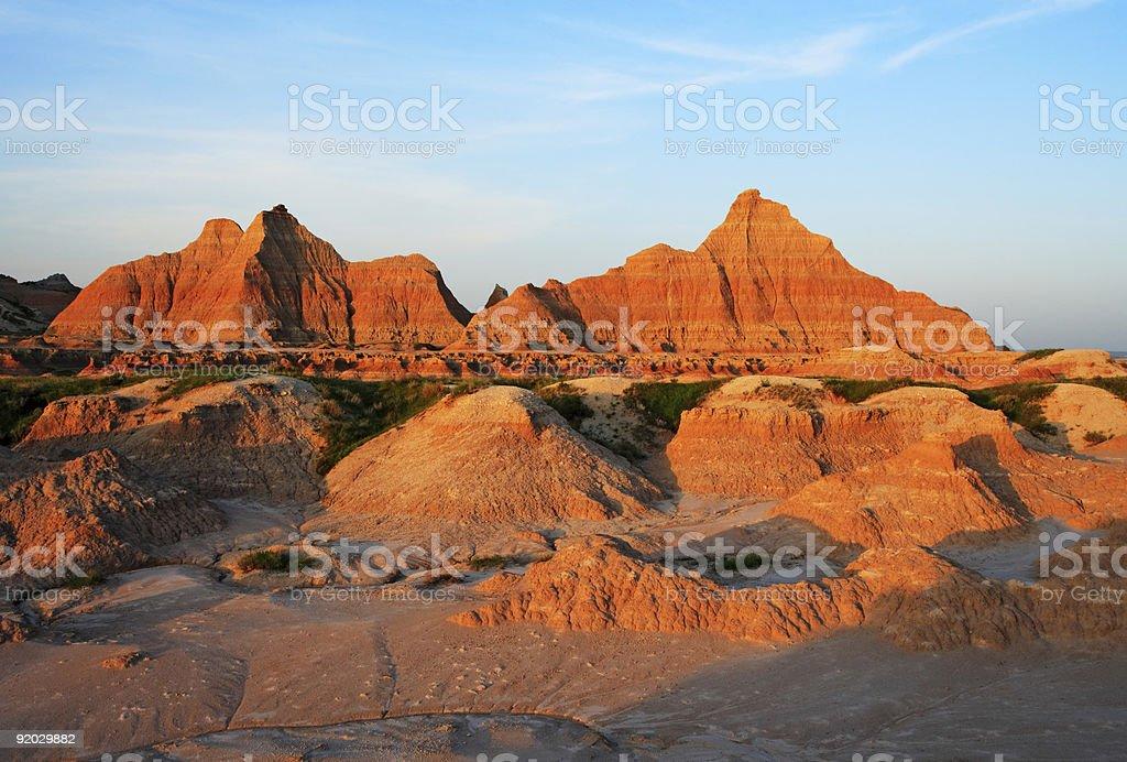 South Dakota Badlands Sunrise stock photo
