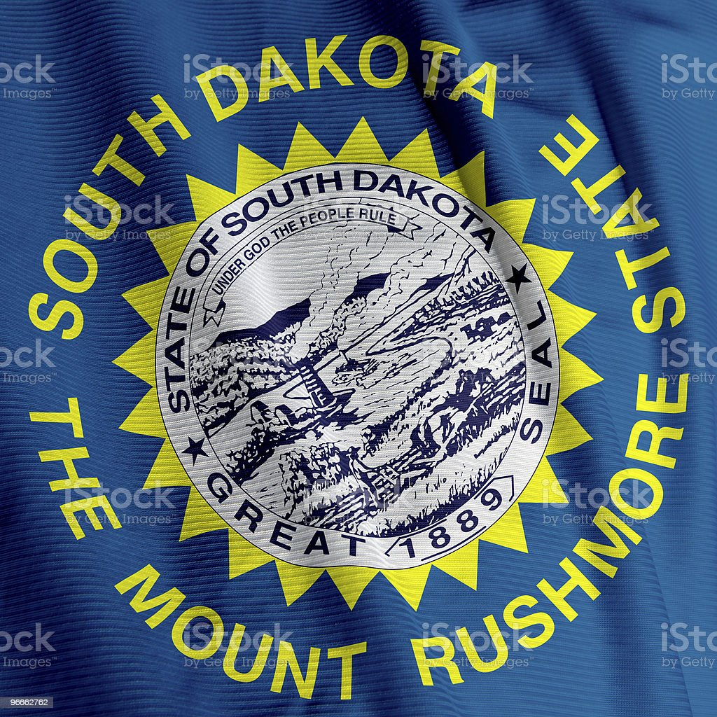 South Dakota Flag Closeup royalty-free stock photo