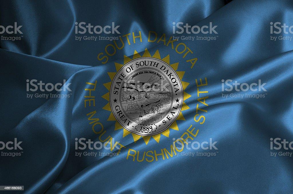 South Dakota flag stock photo